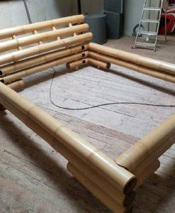 Bambusbett 160x200